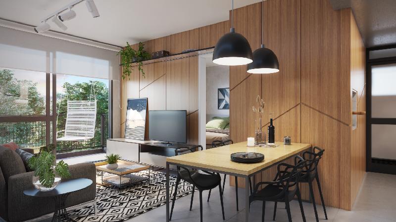 Perspectiva Apartamento 43m²