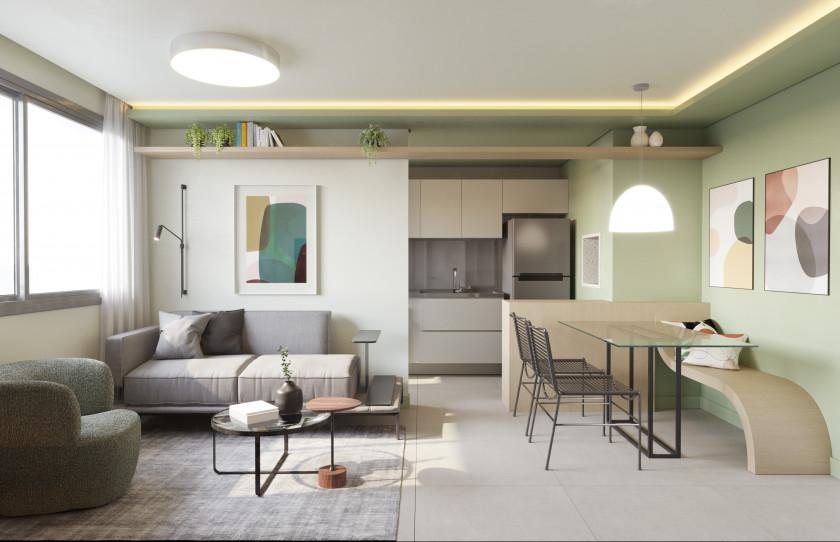 1 Dormitório 41m²