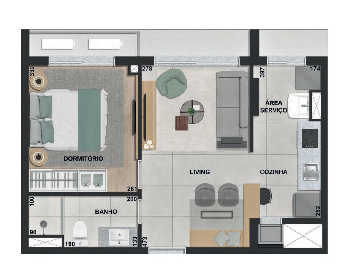 1 dormitório Final 04 - 41m